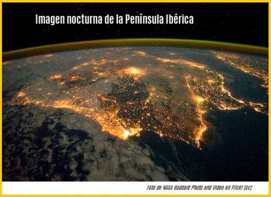 Imagen nocturna de la Península Ibérica