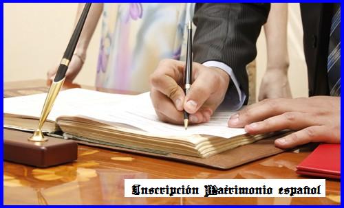 Inscripción del Matrimonio en el Consulado español de La Habana